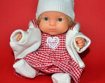 Doll clothes for baby doll 8.5 inch 22 cm Paola Reina, Berenguer and Lil' Cutesies Doll