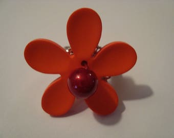 Flower Orange and Red Ring