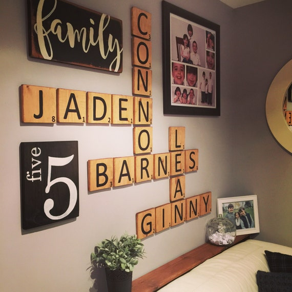 Letter Tiles Scrabble Style Gallery Wall Wall