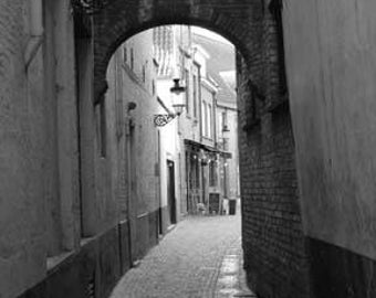 Bruges Laneway - Original Signed Fine Art Photograph