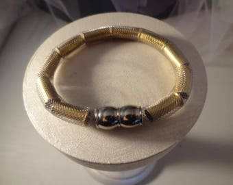 22 LR Silver Mesh Bracelet with Magnetic Clasp