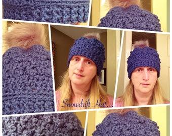 Crochet Snowdrift Hat Pattern
