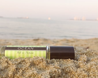 OCEAN scented Roll on Perfume // Clean fragrance that's great for men and women || stainless steel tip