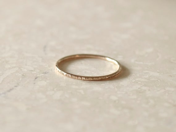 Rose Gold Stackable Ring, Skinny Band