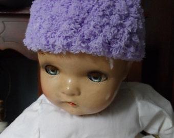 Lilac Purple Crochet Baby Hat