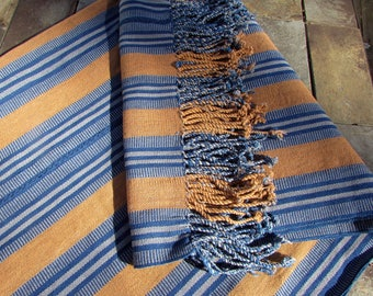 Guatemalan Textile   Organic Cotton and Dyes  Brown and Indigo