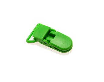 Clips, clips, Pacifier Clips / pacifier - Green 20mm - individually
