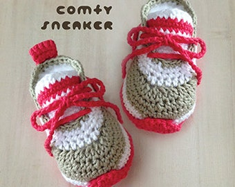 Crochet Baby Pattern Comfy Baby Sneakers Crochet Baby Shoes Crochet Booties Crochet Pattern Newborn Nike Sneakers Newborn Shoes Baby Booties