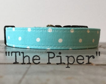 Cool DOG COLLAR, Dog Collar, Modern Dog Collar, Aqua Dog Collar - The Piper!!