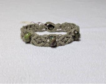 Macrame Green Hemp Bracelet