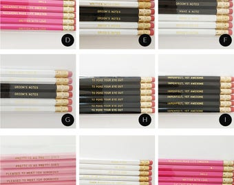 Personalized Pencils / LIKE A BOSS / Boss Lady / Black engraved pencil set / Gold Embossed / Quote Pencils / Gifts for Him & Her