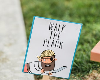 Walk the Plank Sign 8x10