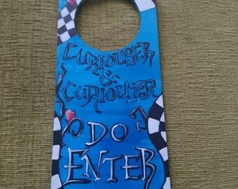 Alice inspired Door Hanger Sign made to order