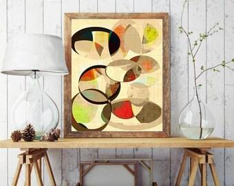 modern mid century, Graphic art, minimalist art, mid century art, mid century modern, geometric art, modern painting, abstract painting