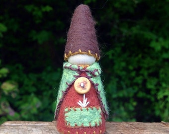 Little Forest Gnome, waldorf inspired storytelling natural doll