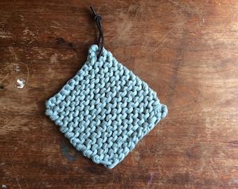 Hand knit trivet