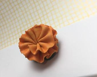 Orange Carnation pin