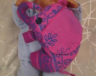 pink elephant blanket, hand made earrings sweet