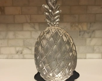 Pewter Pineapple Serving Tray Vintage