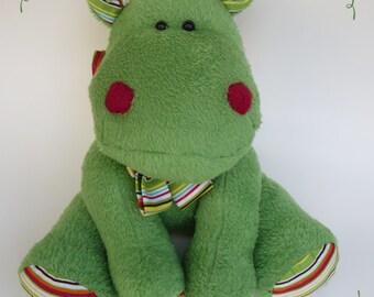 Handmade soft & cuddly hippo