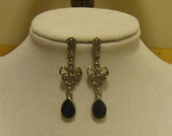 Black Ribbon Earrings