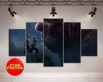 King Kong, King Kong canvas, Canvas Print, Kong Skull Island, Canvas Wall Art, King Kong Wall Art, Movie canvas, Print on canvas, Canvas Art