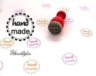 Stamp mini, handmade, rubber stamp Ø 12 mm