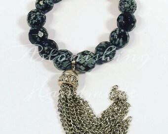 Bling Tassle  Gemstone Bracelet