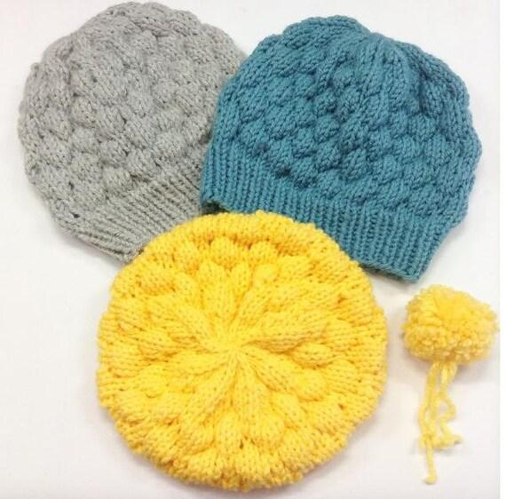 Instant Download Knitting Pattern Bubble Beanie Hat Pattern