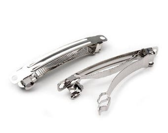 2 support to metal hair clip silver 6 x 60 mm