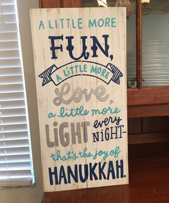 Hanukkah Sign by Etsy