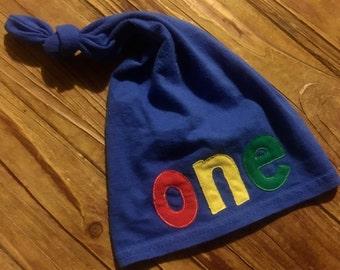 One Hat - Boys Birthday Hat - Boy 1st Birthday - First Birthday Hat - ONE Hat - Birthday Hat
