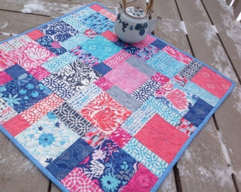Paradise Hodge Podge 27 inch quilted table topper