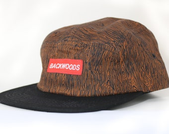 Woods Prints 5 Panel Hat - Backwoods- Streetwear