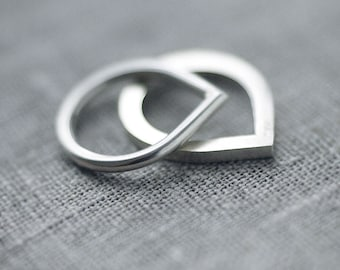 Droplet Eve silver ring