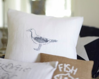 Cross stitch kit,SEAGULL,embroidery kit,modern cross stitch,swedish,scandinavian,anette eriksson,embroidery kits,cross stitch pillow,diy kit