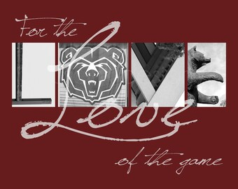 """Missouri State Bears """"For the Love of the Game"""" Photographic Print"""