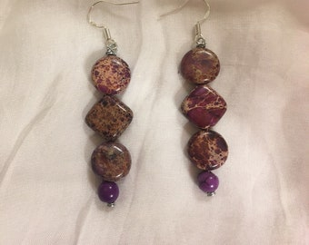 Purple Magnesite Earrings