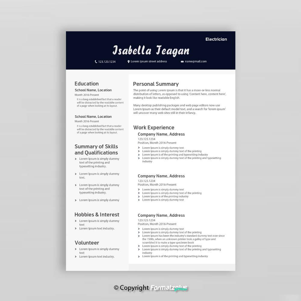 Kreative Lebenslauf Vorlage Professionelle CV Vorlage