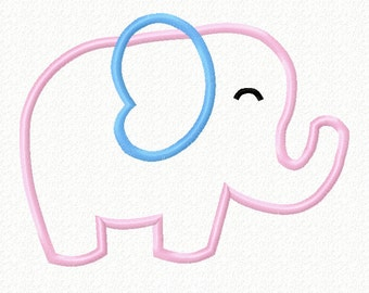 Embroidery Design Cute Elephant Machine Applique, Cute Elephant Design, Embroidery For Kids Baby, 4X4 5X7 6x10