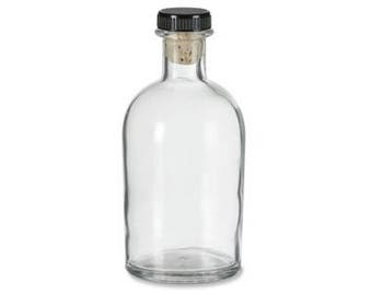 30 pcs Boston Round Clear Glass Bottle with T-Bar , 8.5 oz (250 ml)