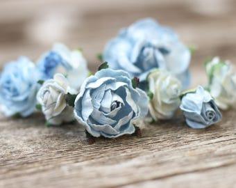 Blue Flower Hair Pins, Flower Hair Pieces, Floral Hair Slides, Dusty Blue Hair Pins, Wedding Flower Crown, Floral Headpiece, Hair Pieces