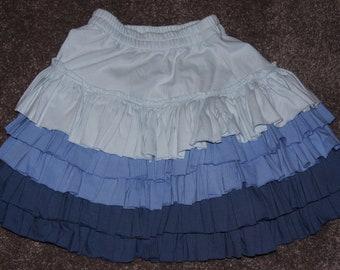 Blue Layered Skirt