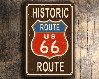 ROUTE 66 SIGN,  Route 66 Signs, Vintage style Route 66 Sign, Historic Route 66 Sign, Road Sign Route 66, Highway Route 66 Sign
