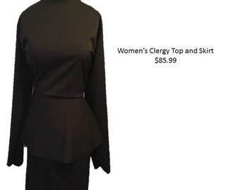 Clergy Top and Skirt