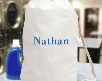 Embroidered Any Name Laundry Bag, laundry, personalized, custom, clean clothes -gfy6867782