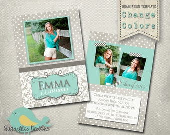 Graduation Announcement PHOTOSHOP TEMPLATE -  Senior Graduation 23