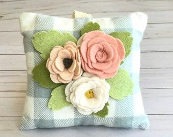 Tooth Fairy Pillow || felt flowers || baby shower gift || new baby gift || nursery decor