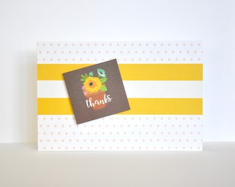 Thank You Card, Teacher Card, Handmade Card, Handcrafted Card, Handmade, Handcrafted, Greeting Card, Birthday Card