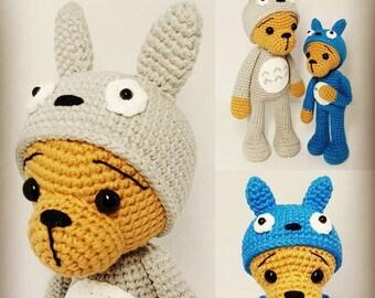 crochet pattern amigurumi Totoro bears